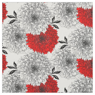 Beautiful Big Red And White Carnation Flower Print