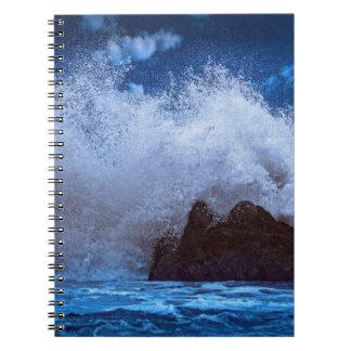 Beautiful big wave, on Photo notebook