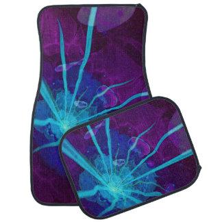 Beautiful Bioluminescent Sea Anemone FractalFlower Car Mat