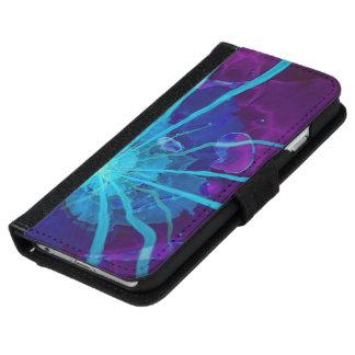 Beautiful Bioluminescent Sea Anemone FractalFlower iPhone 6 Wallet Case