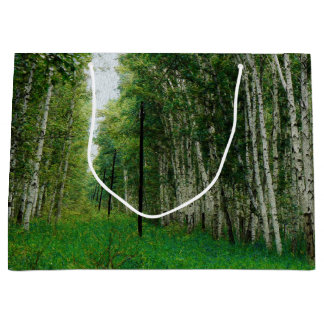 Beautiful Birch Tree Forest Large Gift Bag