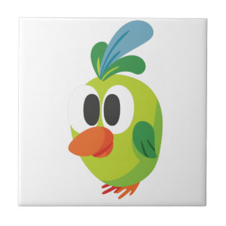 beautiful bird walking ceramic tile