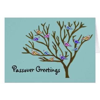 Beautiful birds Passover Card