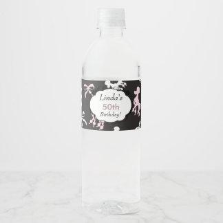 Beautiful Birthday poodles Water Bottle Label