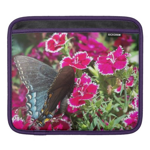 Beautiful Black and Blue Swallowtail Butterfly Sleeve For iPads