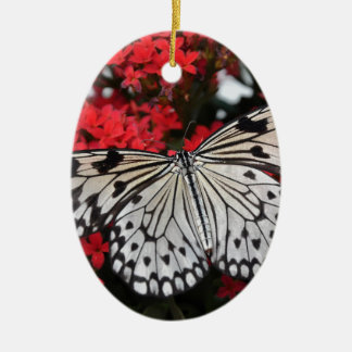 Beautiful black and white Butterfly Ceramic Oval Decoration