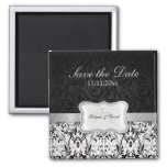 Beautiful Black and White Damask Save the Date