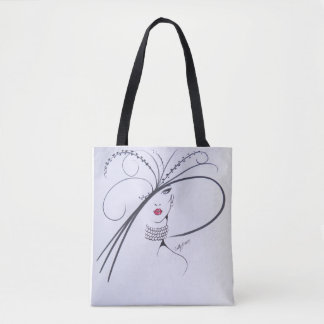 Beautiful Black and white Fashion Tote Bag
