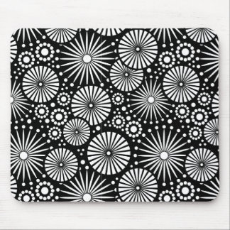 Beautiful black and white mousepad