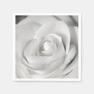 Beautiful Black and White Rose Disposable Napkins