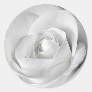 Beautiful Black and White Rose Round Sticker