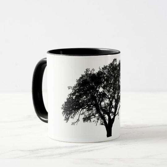 Beautiful Black and White Tree Print Design Mug
