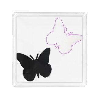 BEAUTIFUL BLACK BUTTERFLY SMALL PERFUME TRAY