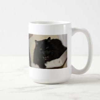 Beautiful black cat coffee mug