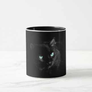 Beautiful black cat mug