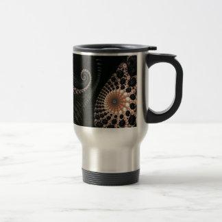 Beautiful Black Fractal Art Decor Mugs