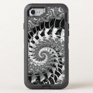 Beautiful Black Fractal OtterBox Defender iPhone 8/7 Case