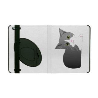 Beautiful black, grey and white kitten. iPad case