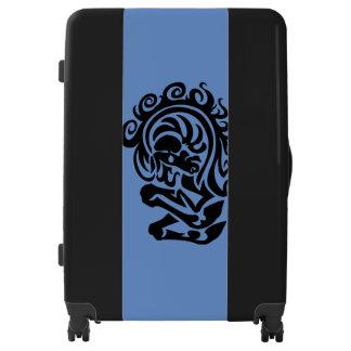 Beautiful Black Horse Large Sized Luggage Suitcase