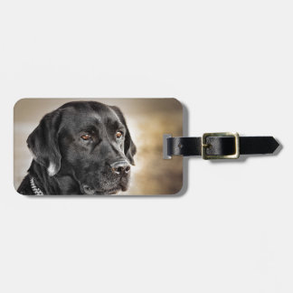 Beautiful Black Labrador Retriever dog design Luggage Tag