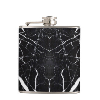 Beautiful black marble hip flask