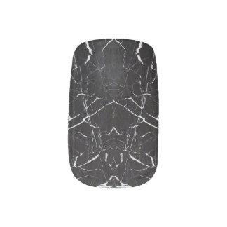 Beautiful black marble minx nail art