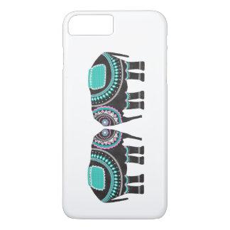 Beautiful Black Ornate Elephant, Cool, Unique iPhone 8 Plus/7 Plus Case