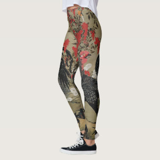 Beautiful Black Rooster Leggings