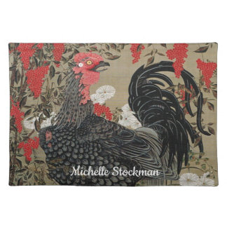 Beautiful Black Rooster Placemat
