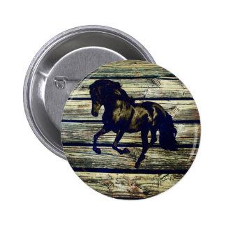 beautiful black stallion pinback buttons
