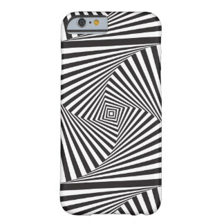 Beautiful Black white spiral optical illusion Barely There iPhone 6 Case