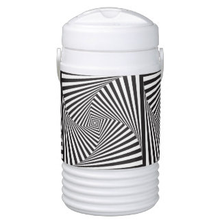 Beautiful Black white spiral optical illusion Cooler