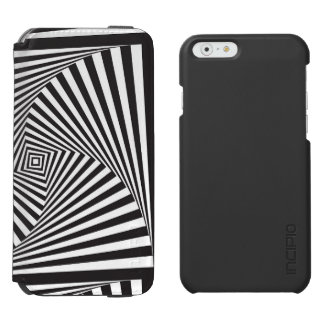 Beautiful Black white spiral optical illusion Incipio Watson™ iPhone 6 Wallet Case