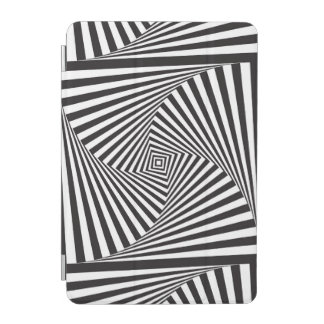 Beautiful Black white spiral optical illusion iPad Mini Cover