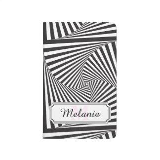 Beautiful Black white spiral optical illusion Journal