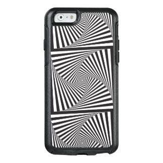 Beautiful Black white spiral optical illusion OtterBox iPhone 6/6s Case
