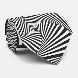 Beautiful Black white spiral optical illusion Tie