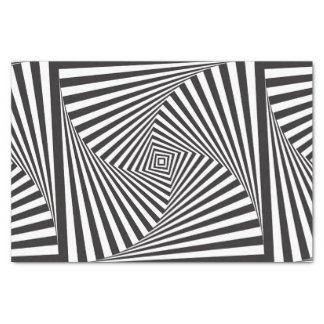 Beautiful Black white spiral optical illusion Tissue Paper