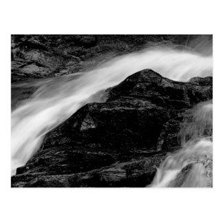 Beautiful Black & White Waterfall Landscape Photo Postcard