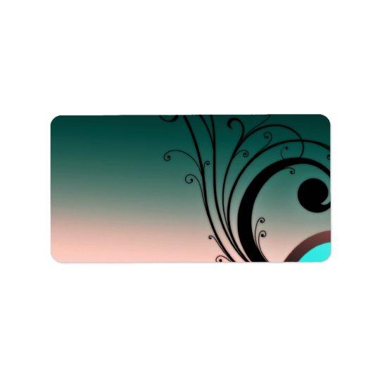 Beautiful blackish swirls label