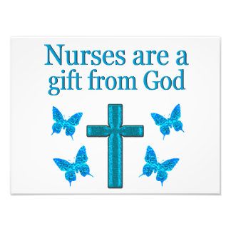 BEAUTIFUL BLESSED NURSE DESIGN PHOTO PRINT
