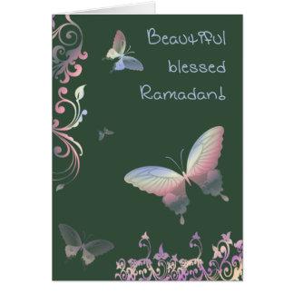 Beautiful blessed Ramadan - Greetings Card
