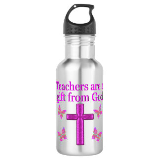 BEAUTIFUL BLESSED TEACHER DESIGN 532 ML WATER BOTTLE