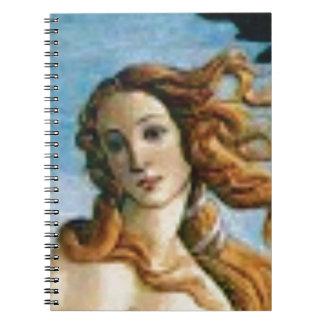 beautiful blonde oil spiral notebook