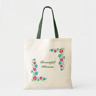 Beautiful blooms bag- select your size/color/text tote bag