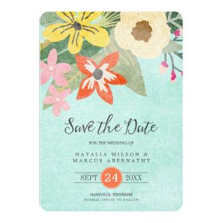 Beautiful Blooms Photo Save the Date Card 13 Cm X 18 Cm Invitation Card