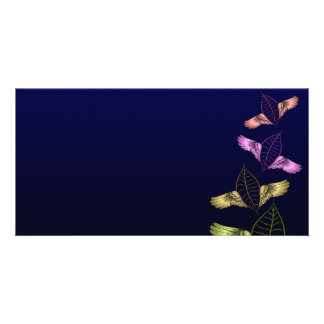 Beautiful blossom in vibrant colors personalized photo card