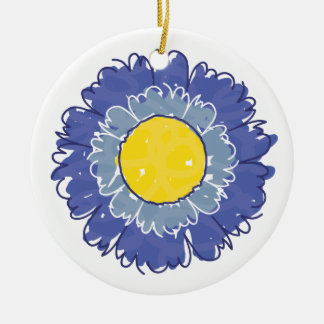 Beautiful Blossom Ornament - Blue