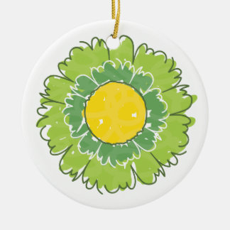Beautiful Blossom Ornament - Green