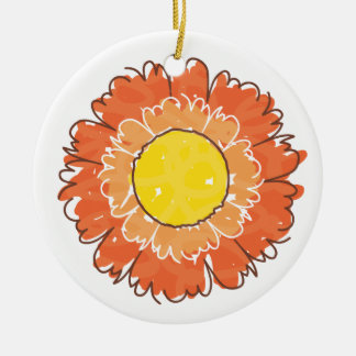 Beautiful Blossom Ornament - Orange